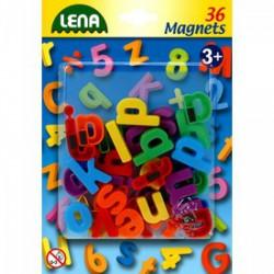 LENA Mágneses kisbetűk 36 db, 3 cm - Bébijátékok - Bébijátékok Lena