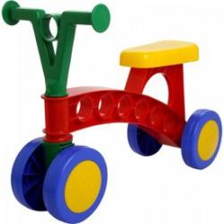 Lena - Színes műanyag négykerekű futóbicikli - Lena golyófuttató, pötyi, műanyag játékok - Bébijátékok