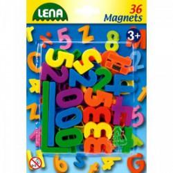 LENA Mágneses számok és jelek 36 db, 3 cm - Bébijátékok - Bébijátékok Lena