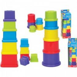Fun Time 5 részes toronyépítő bébijáték 5007 - Funtime bébijátékok - Bébijátékok Fun Time