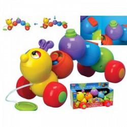 Fun Time - Húzható activity kukac, bébijáték - Funtime bébijátékok - Bébijátékok Fun Time