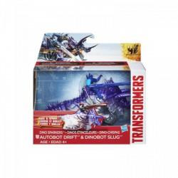 Transformers - Age of Extinction - Autobot Drift és Dinobot Slug szikrázó dínórobot - Transformers játékok - Dínós játékok