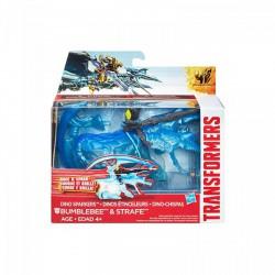 Transformers - Age of Extinction - Bumblebee és Strafe szikrázó dínórobot - Transformers játékok - Dínós játékok