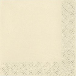 Szalvéta 33x33 cm, 20 db/csg, 3 rétegű beige - Partykellékek, csomagolóanyagok - Partykellékek, csomagolóanyagok