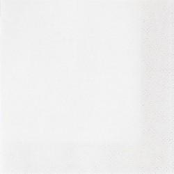 Szalvéta 33x33 cm, 20 db/csg, 3 rétegű fehér - Partykellékek, csomagolóanyagok - Partykellékek, csomagolóanyagok