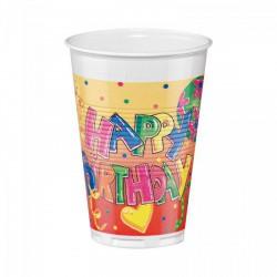 Pohár/12 db 2dl HappyBirthday - Partykellékek, csomagolóanyagok - Partykellékek, csomagolóanyagok