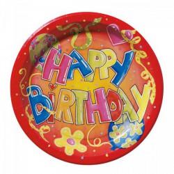 Papírtányér/10 db HappyBirthday - Partykellékek, csomagolóanyagok - Partykellékek, csomagolóanyagok
