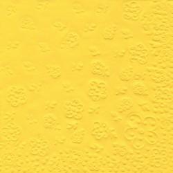 Dombornyomott szalvéta 16 ív 33x33 cm, 3 rétegű, sárga - Partykellékek, csomagolóanyagok - Partykellékek, csomagolóanyagok