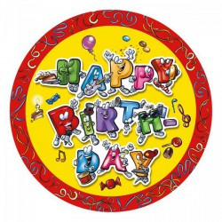 Papírtányér/8db 23 cm Celebration - Partykellékek, csomagolóanyagok - Partykellékek, csomagolóanyagok