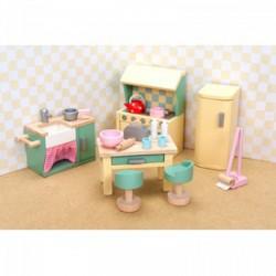 Le Toy Van rózsabimbó fa konyha bababútor, fajáték - Fajátékok lányoknak - Fajátékok Le Toy Van