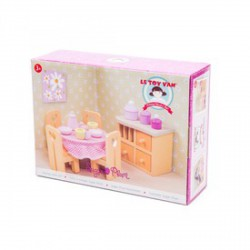 Le Toy Van - fa étkező bababútor szett, fajáték - Fajátékok lányoknak - Fajátékok