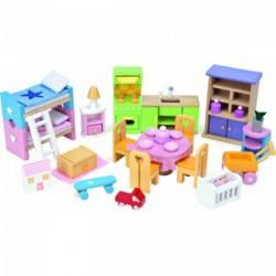 Le Toy Van - kezdő fa bababútor szett - Fajátékok lányoknak - Fajátékok