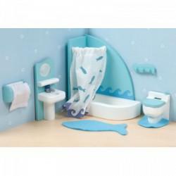 Le Toy Van - fa fürdőszoba bababútor szett FAJÁTÉKOK