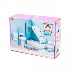 Le Toy Van - fa fürdőszoba bababútor szett - Fajátékok lányoknak - Fajátékok