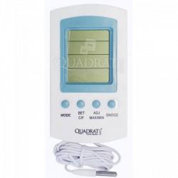QUADRAT - Hőmérő, digitális, fehér, külső hőmérés - Fürdőszobai kiegészítők - Fürdőszobai kiegészítők