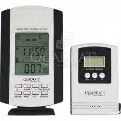 QUADRAT - Hőmérő, digitális, fekete-szürke, 2 egység - Fürdőszobai kiegészítők - Fürdőszobai kiegészítők