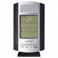 QUADRAT - Hőmérő, digitális, szürke, időjárás jelzés - Fürdőszobai kiegészítők - Fürdőszobai kiegészítők