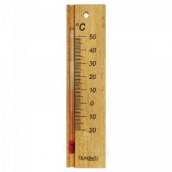 QUADRAT - Hőmérő, fa, kicsi, natúr Otthon - Fürdőszobai kiegészítők