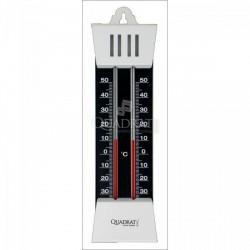 QUADRAT - Hőmérő, fém, szürke-fekete Otthon - Fürdőszobai kiegészítők