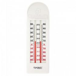 QUADRAT - Hőmérő, műanyag, fehér, 2 szálas Otthon - Fürdőszobai kiegészítők