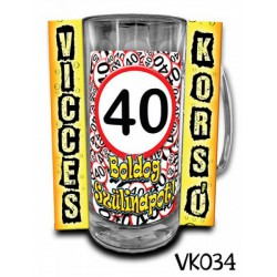 Söröskorsó - Boldog 40. Szülinapot -Bögrék - Bögrék