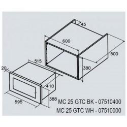 CATA - MC 25 GTC WH Can Roca beépíthető mikro 7510000 - Beépíthető készülékek