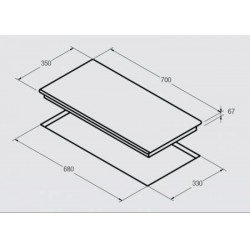 NODOR - RLT 37 B SLIM kerámia főzőlap -Beépíthető készülékek - Beépíthető készülékek