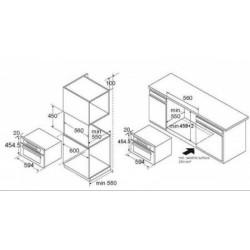 Nodor - NC 44 G BK beépíthető sütő+mikro Műszaki - Beépíthető készülékek