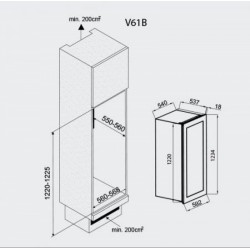 NODOR - Vinoteca V 61 beépíthető borhűtő -Beépíthető készülékek - Beépíthető készülékek