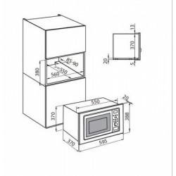FOSTER - 7151000 beépíthető mikrohullámú sütő FOSTER - Beépíthető készülékek
