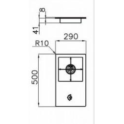 FOSTER - 7631032 beépíthető gázfőző, 1 gázégős FOSTER - Beépíthető készülékek