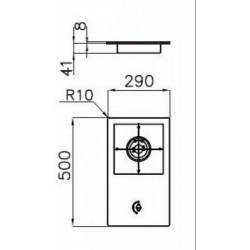 FOSTER - 7632032 beépíthető gázfőző, 1 gázégős FOSTER - Beépíthető készülékek