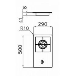 FOSTER - 7633032 beépíthető gázfőző, 1 gázégős FOSTER - Beépíthető készülékek