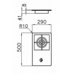 FOSTER - 7634032 beépíthető WOK gázfőző, 1 gázégős FOSTER - Beépíthető készülékek