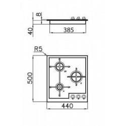 FOSTER - 7063042 beépíthető gázfőző, 3 gázégős FOSTER - Beépíthető készülékek