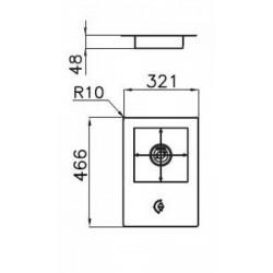 FOSTER - 7621032 beépíthető gázfőző, 1 gázégős FOSTER - Beépíthető készülékek