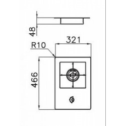 FOSTER - 7622032 beépíthető gázfőző, 1 gázégős FOSTER - Beépíthető készülékek