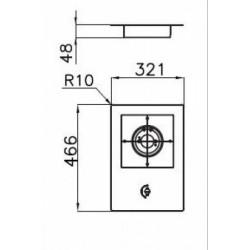 FOSTER - 7623032 beépíthető gázfőző, 1 gázégős FOSTER - Beépíthető készülékek