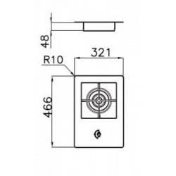 FOSTER - 7624032 beépíthető WOK gázfőző, 1 gázégős FOSTER - Beépíthető készülékek