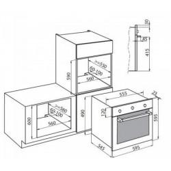 FOSTER - 7122051 63 literes multifunkciós beépíthető sütő, 5 programos FOSTER - Beépíthető készülékek