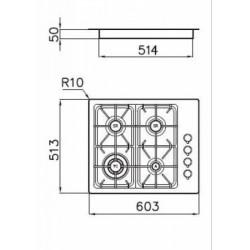 FOSTER - 7243062 beépíthető gázfőző, 4 gázégős FOSTER - Beépíthető készülékek