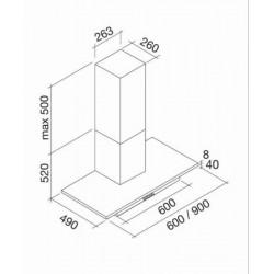 AIRMEC - ARTEMIDE E 60 beépíthető páraelszívó Műszaki - Páraelszívók