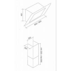 AIRMEC - MILLENNIUM E 60 beépíthető páraelszívó Műszaki - Páraelszívók