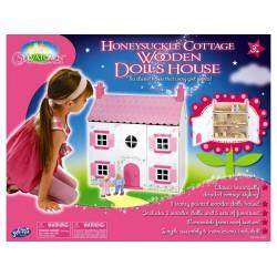 Rózsaszín fa házikó Játék - Fajátékok
