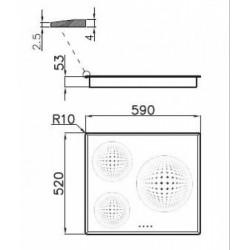 FOSTER - 7331231 beépíthető indukciós főzőlap, 9 fokozatos FOSTER - Beépíthető készülékek