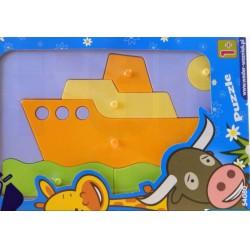 Wader - Mozgó barátok bébipuzzle - hajó Játék - Bébijátékok