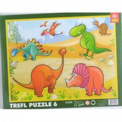 Trefl - 6 db-os keretes puzzle - Dinoszauruszok (31075) - PUZZLE játékok - Dínós játékok