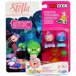 Angry Birds Stella - Telepods Duo Pack - rózsaszín és kék madár ANGRY BIRDS - Plüss és állat,-mesefigurák