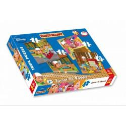 TREFL - Junior 4 az 1-ben puzzle (4,6,9,12 db) - Handy Manny (36110) - Verdás játékok - Kirakók, puzzle-ok