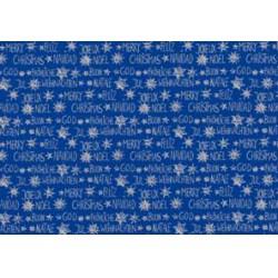 Herlitz - Karácsonyi csomagoló 2mx70cm, tekercses, kék, mintás - Ünnepi meglepik